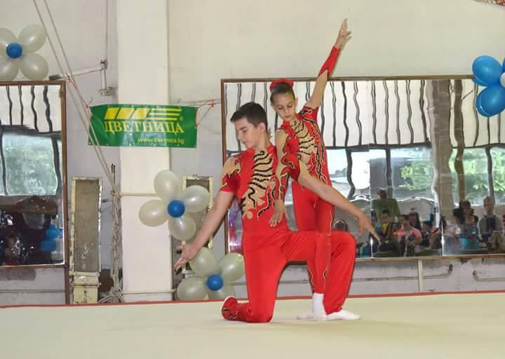 Регионален турнир по спортна акробатика се проведе днес в комплекс Локомотив