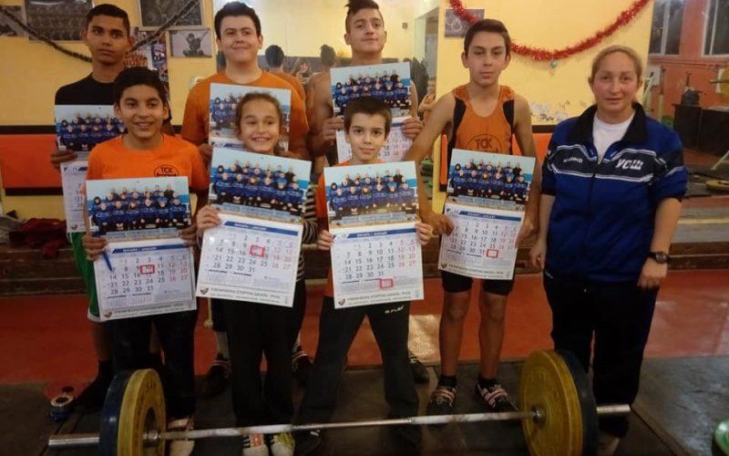 Коледна надпревара по вдигане на тежести и силова подготовка на деца от школата към УСШ