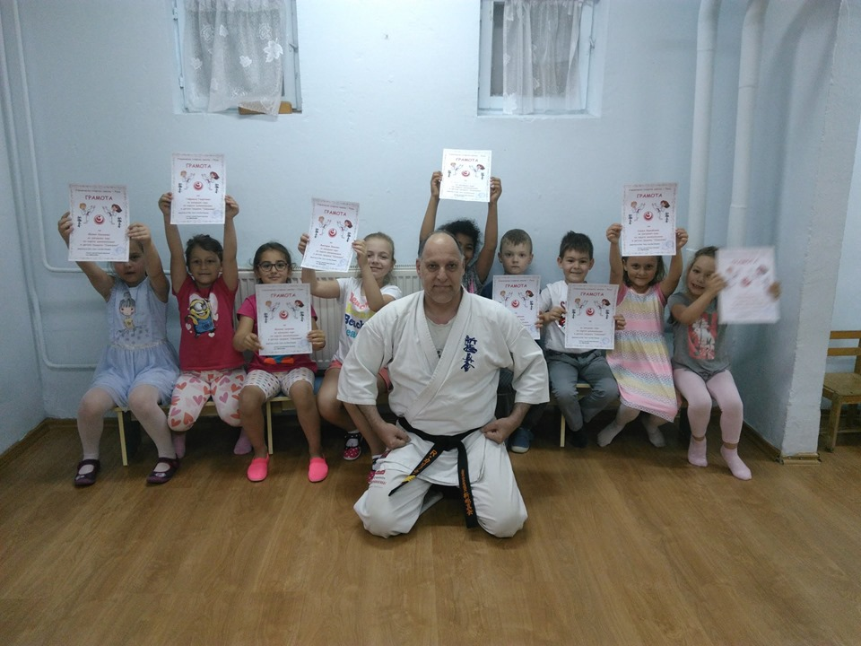 Групата по карате шинкиокушин към УСШ - Русе в детска градина